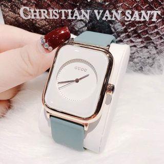 Đồng hồ nữ Guou 8162 silicone giá sỉ