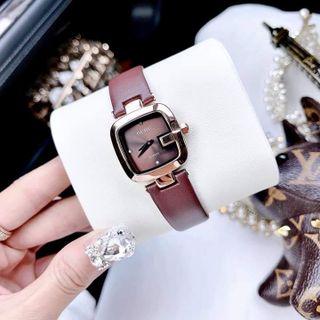 Đồng hồ nữ Guou 8190 bé dây da giá sỉ