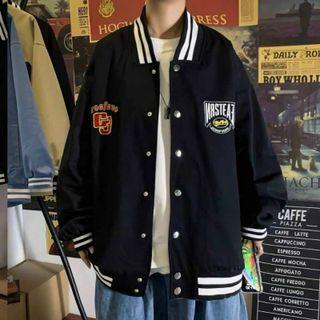 Áo khoác dù kiểu bomber logo GJ cá tính, trẻ trung giá sỉ