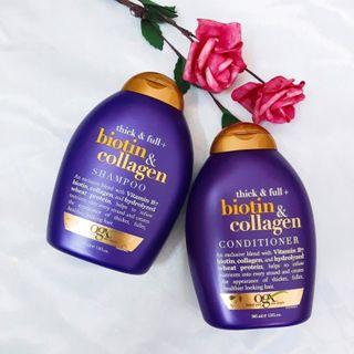 OGX Cặp dầu gội xả Biotin And Collagen 385ml/chai giá sỉ