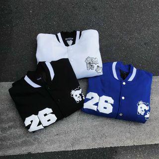 Áo khoác cardigan thun nỉ ngoại logo 26 giá sỉ