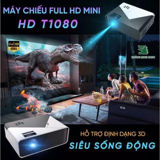 Máy chiếu Mini KhủngLongXanh_T1080 hỗ trợ HD+, kết nối với đthoai, laptop có dây và không dây,... giá sỉ