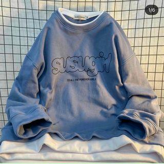 Áo sweater nỉ ngoại in tay phồng mềm susugirl siêu đẹp giá sỉ