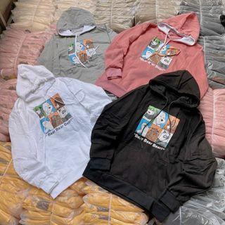 Áo Hoodie logo in nổi gấu form dưới 70kg thun nỉ ngoại mềm mịn giá sỉ