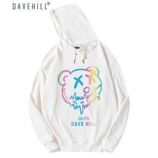 Áo Hoodie phản quang 7 màu DAVE HILL form dưới 70kg decan in xịn giá sỉ