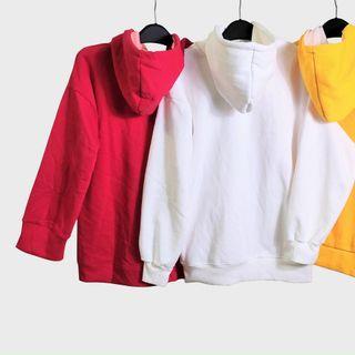 Áo hoodie trơn nỉ ngoại trẻ trung, năng động from dưới 75kg giá sỉ