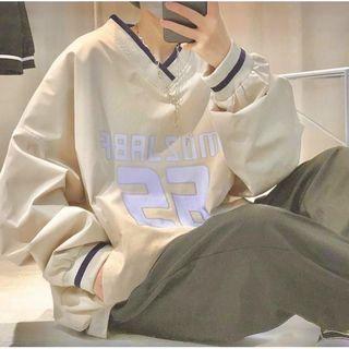 Áo sweater tay phồng in logo trẻ trung, năng động giá sỉ