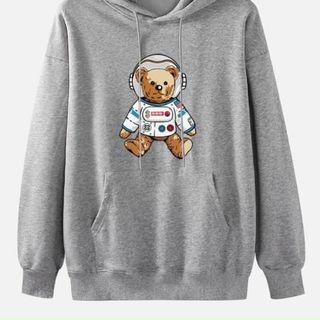 Áo hoodie gấu thám hiểm nỉ ngoại trẻ trung, năng động from dưới 70kg giá sỉ