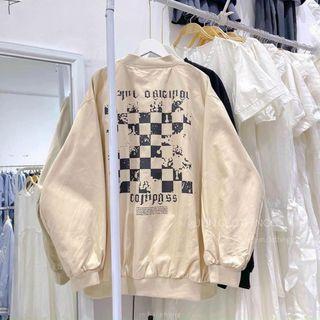 Áo khoác nhung 2 lớp dày đẹp, logo thêu trẻ trung, năng động giá sỉ