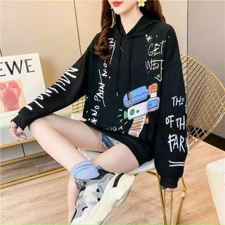 Áo hoodie nỉ ngoại in chữ mềm mịn form chuẩn giá sỉ