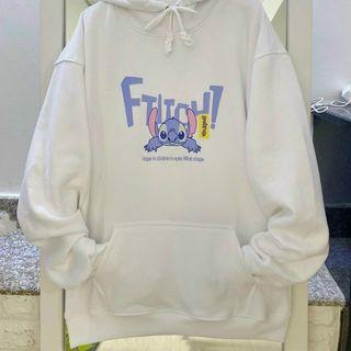 Áo hoodie chất PE in hoạt hình đẹp giá rẻ giá sỉ