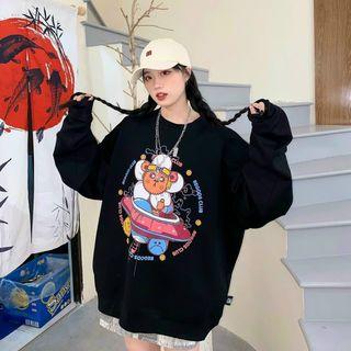 Áo sweater in đĩa bay đẹp, dễ thương giá sỉ