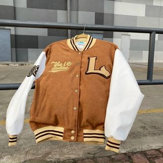 Áo khoác nhung logo L mềm mịn trẻ trung, năng động giá sỉ