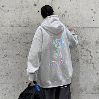 Áo Hoodie phản quang 7 màu ATNIGHT form dưới 70kg decan in xịn giá sỉ - giá bán buôn giá sỉ