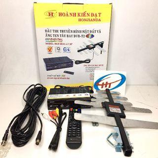 Combo Đầu thu truyền hình KTS MS01, anten 107, dây cáp 5C 10M giá sỉ